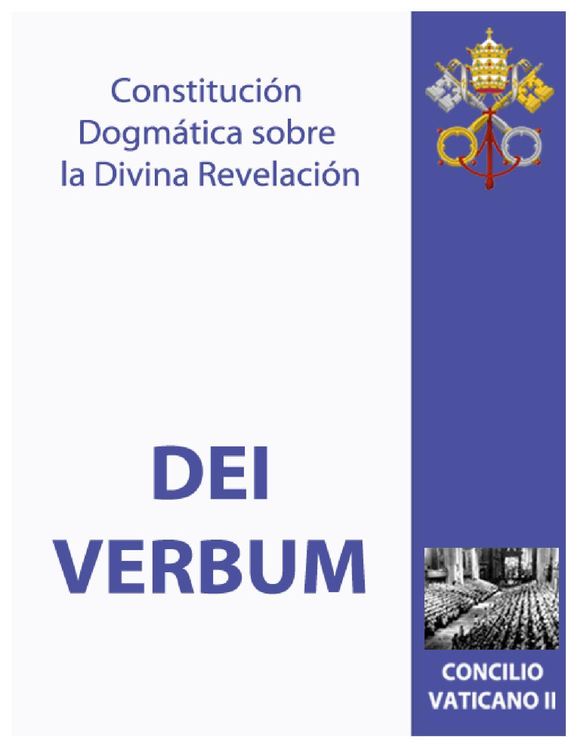 Constitución Dogmática sobre la Divina Revelación,